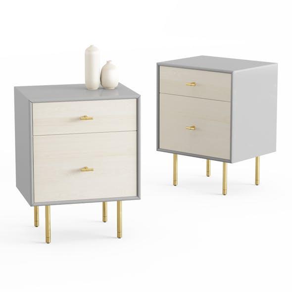 Modernist Wood Bedside table - 3DOcean Item for Sale