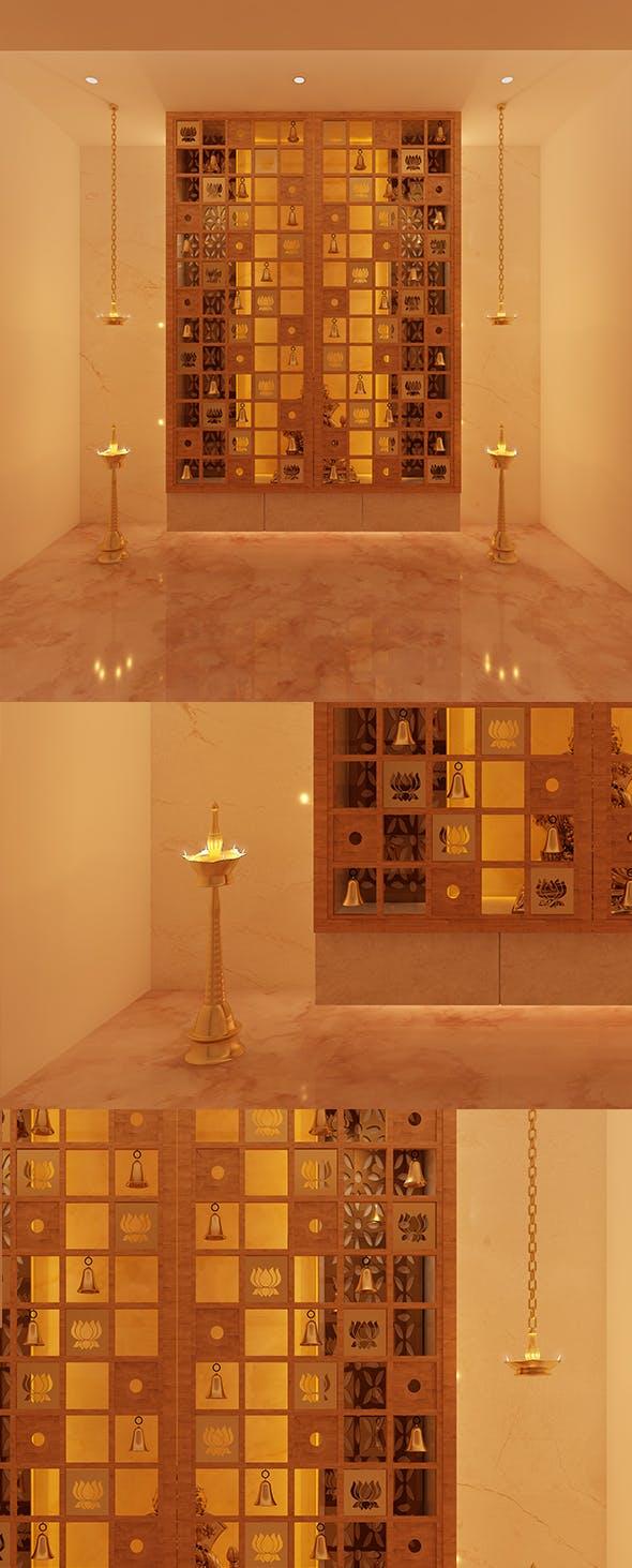 Realistic Pooja Room 218 - 3DOcean Item for Sale