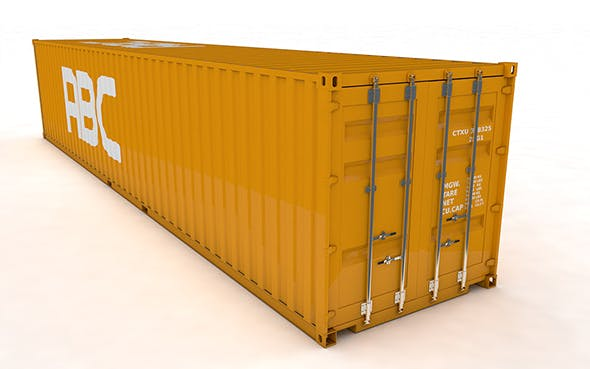 Cargo Container 40ft Rigged and Animated - 3DOcean Item for Sale