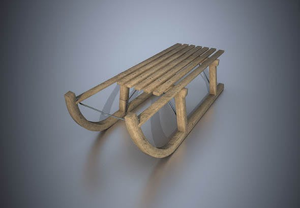 Wooden Sleigh - 3DOcean Item for Sale