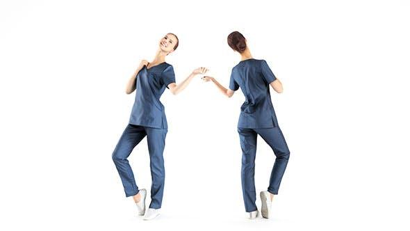 Beautiful medical nurse posing 40 - 3DOcean Item for Sale