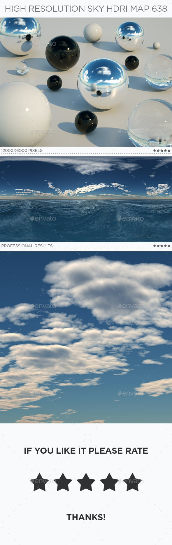 High Resolution Sky HDRi Map 638 - 3DOcean Item for Sale