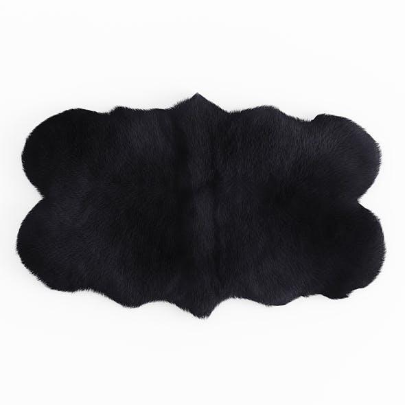 Forsyth Sheepskin Rug Black - 3DOcean Item for Sale