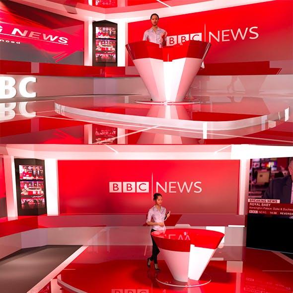NEWS TV Studio - 3DOcean Item for Sale