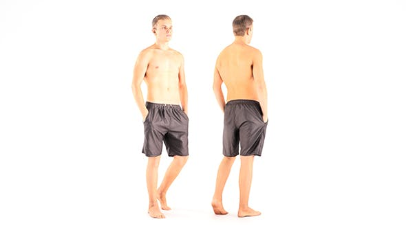 Man in shorts 10 - 3DOcean Item for Sale