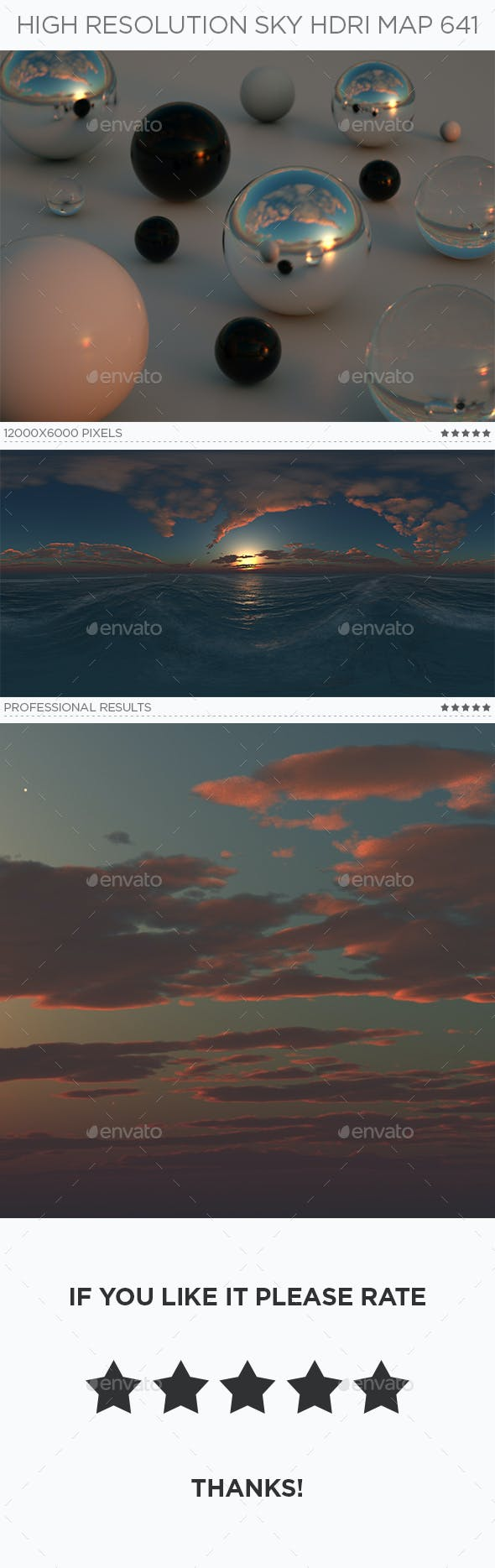 High Resolution Sky HDRi Map 641 - 3DOcean Item for Sale