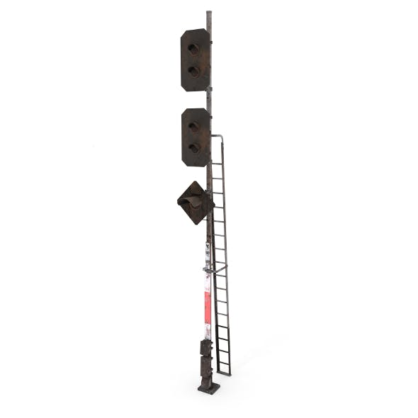 Train Traffic Light Weathered 18 - 3DOcean Item for Sale