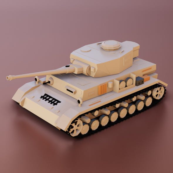 Low Poly Panzer IV Tank