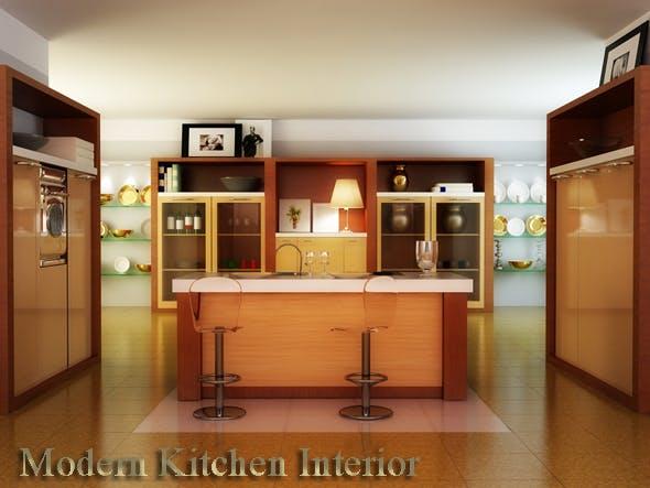 Kitchen interior - 3DOcean Item for Sale