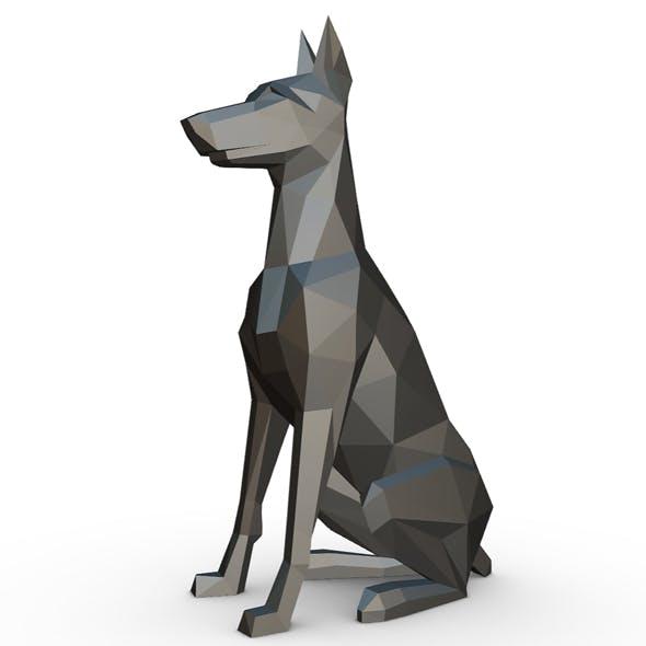 doberman figure - 3DOcean Item for Sale