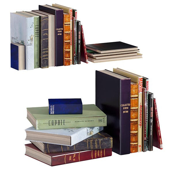 L3DV02G05 - books collection set - 3DOcean Item for Sale