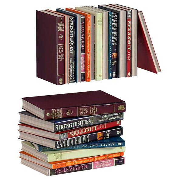 L3DV02G06 - books collection set - 3DOcean Item for Sale