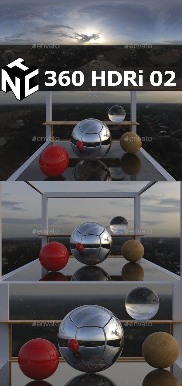 Full spherical 360 Aerial HDRi 02 - 3DOcean Item for Sale