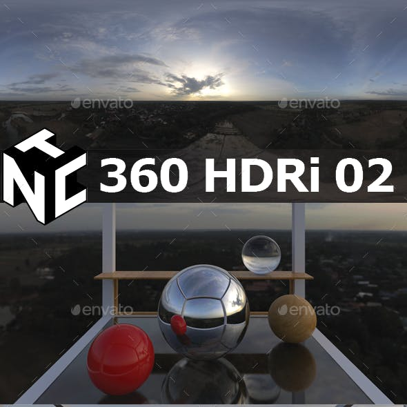 Full spherical 360 Aerial HDRi 02