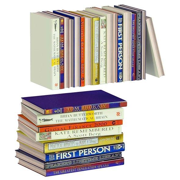 L3DV02G07 - books collection set - 3DOcean Item for Sale