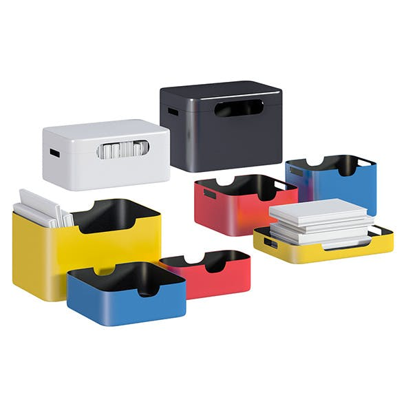 L3DV03G05 - containers set - 3DOcean Item for Sale