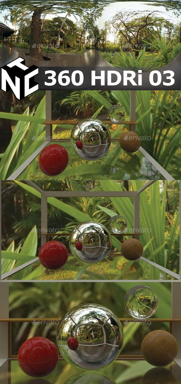 Full spherical 360 HDRi Green Garden view 03 - 3DOcean Item for Sale