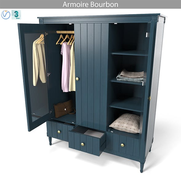 MADE Armoire Bourbon - 3DOcean Item for Sale