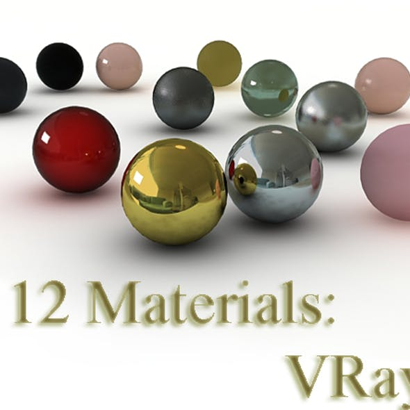 12 VRay materials