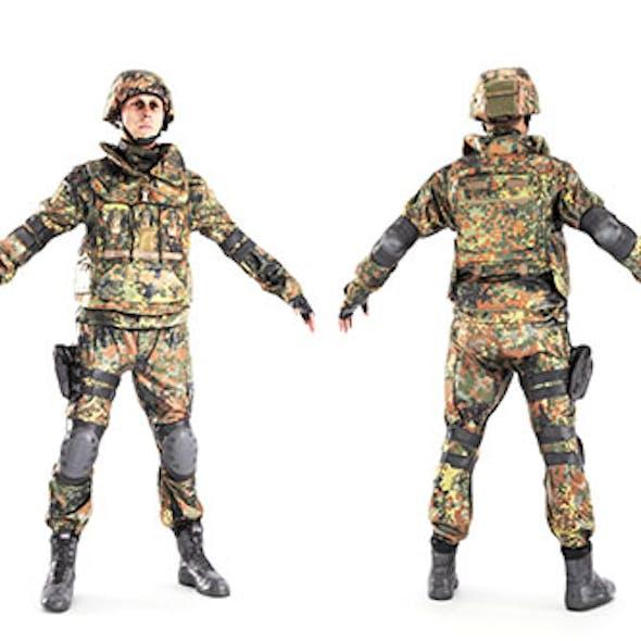 Soldier in Bundeswehr military uniform 11