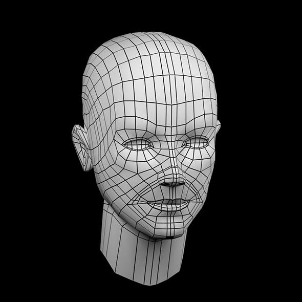 Low Poly woman Head - Base Mesh - 3DOcean Item for Sale