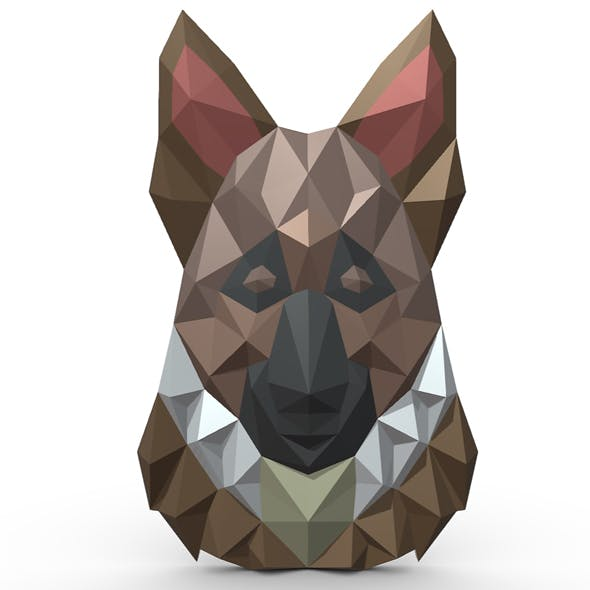 German shepherd figure