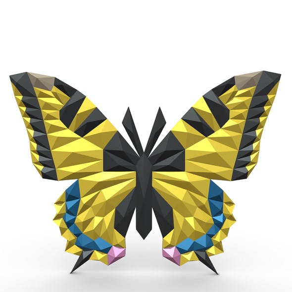 butterfly figure - 3DOcean Item for Sale