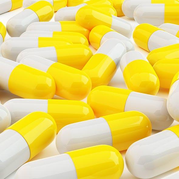 Yellow Pills - 3DOcean Item for Sale