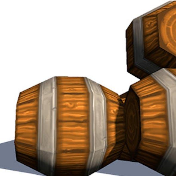Chunky Wooden Barrels