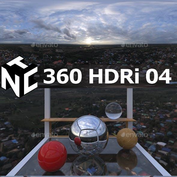 Full spherical 360 HDRi Sunrise view 05