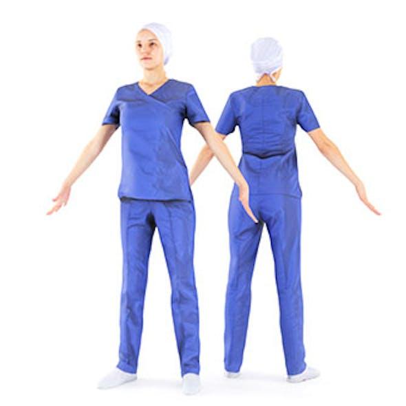 Surgical nurse A-pose 44