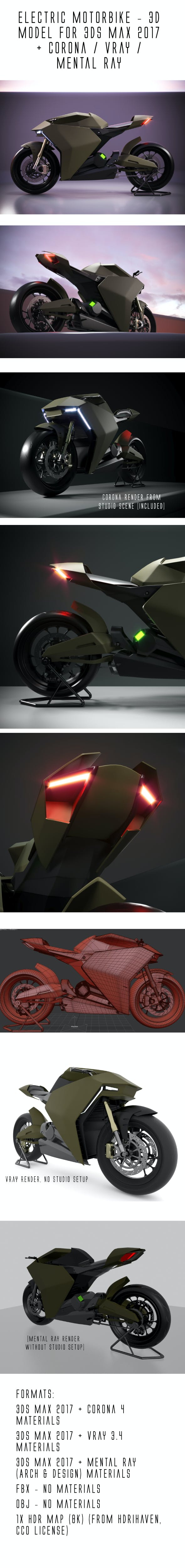 Ducati Zero electric motorcycle concept - 3DOcean Item for Sale