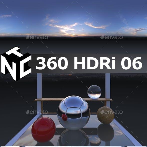 Full spherical 360 HDRi Sunset view 06