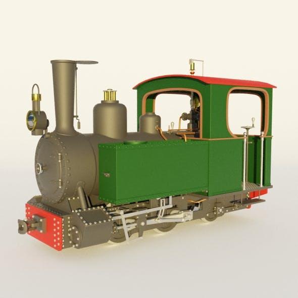 Steam locomotive - 3DOcean Item for Sale