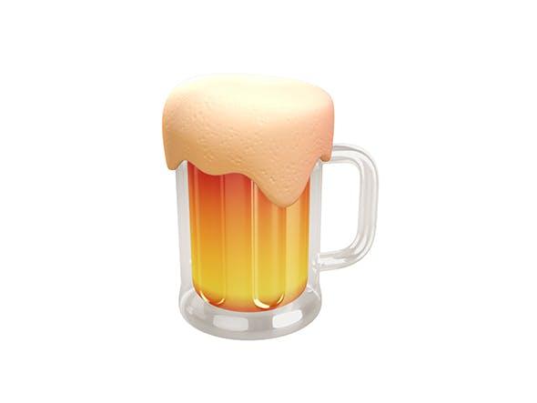 Beer Glass - 3DOcean Item for Sale