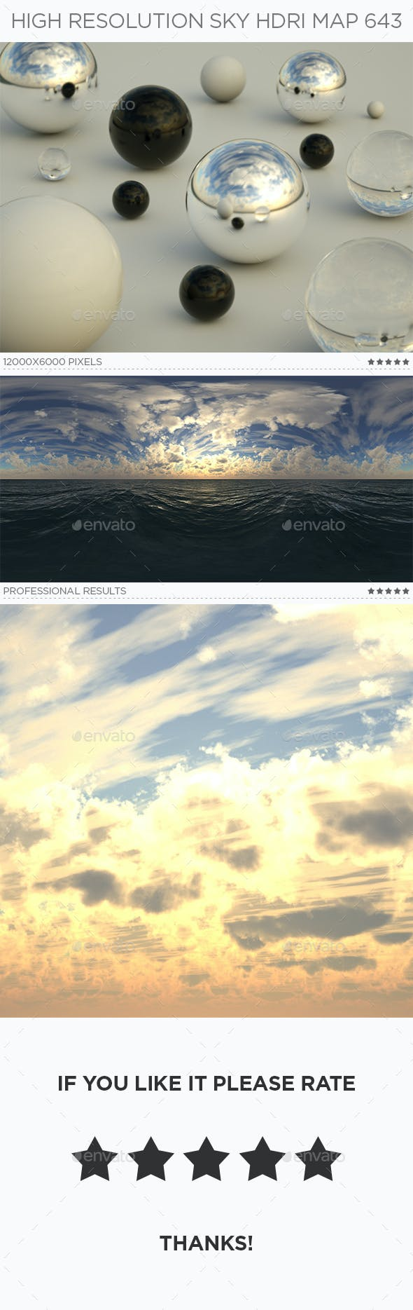 High Resolution Sky HDRi Map 643 - 3DOcean Item for Sale