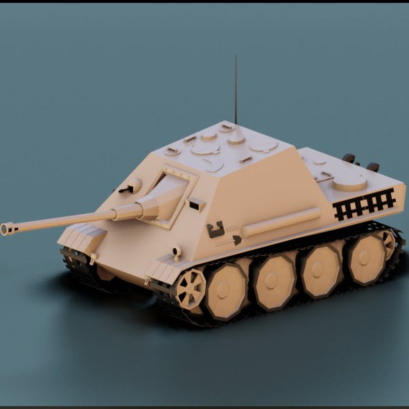 Low Poly Jagdpanther Tank - 3DOcean Item for Sale