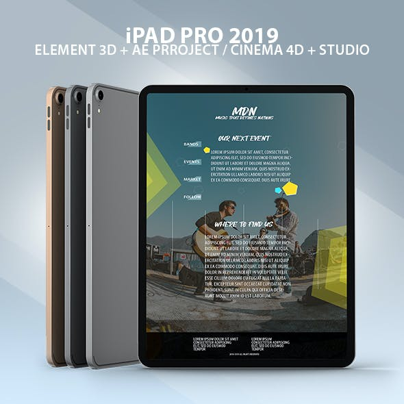 iPad Pro 2019 Element 3D Model