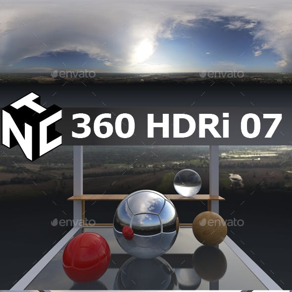 Full spherical 360 HDRi Morning view 07