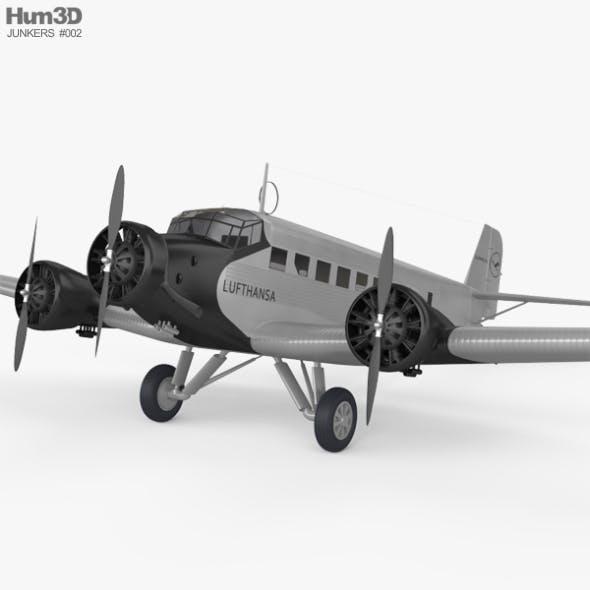 Junkers Ju 52 - 3DOcean Item for Sale