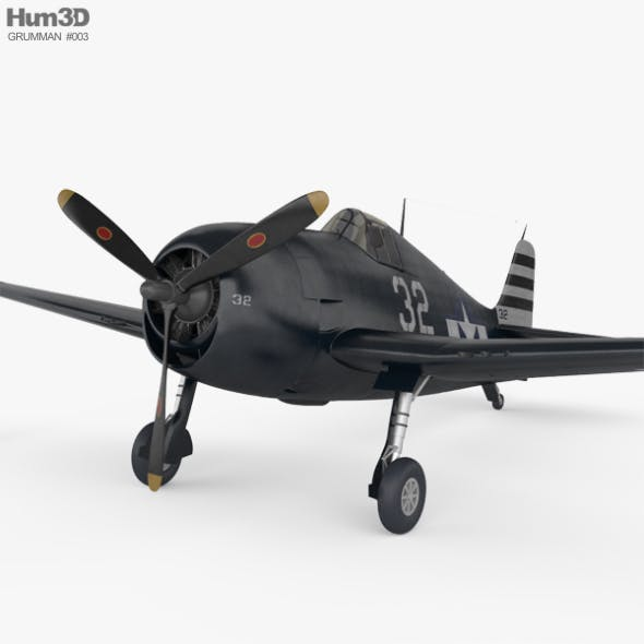 Grumman F6F Hellcat - 3DOcean Item for Sale