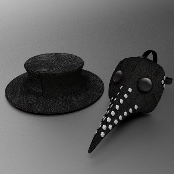 Plague Doctors mask and hat - 3DOcean Item for Sale