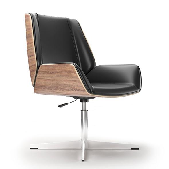 Office armchair IVOL Milano black - 3DOcean Item for Sale
