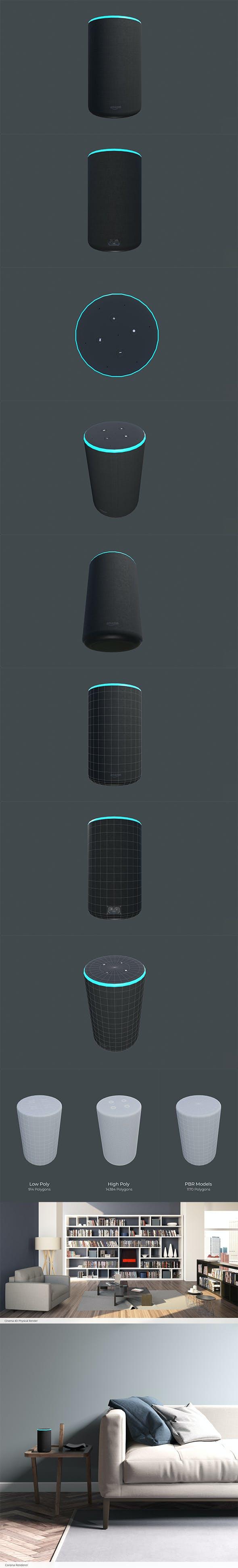 Smart Speake Amazon Echo - 3DOcean Item for Sale