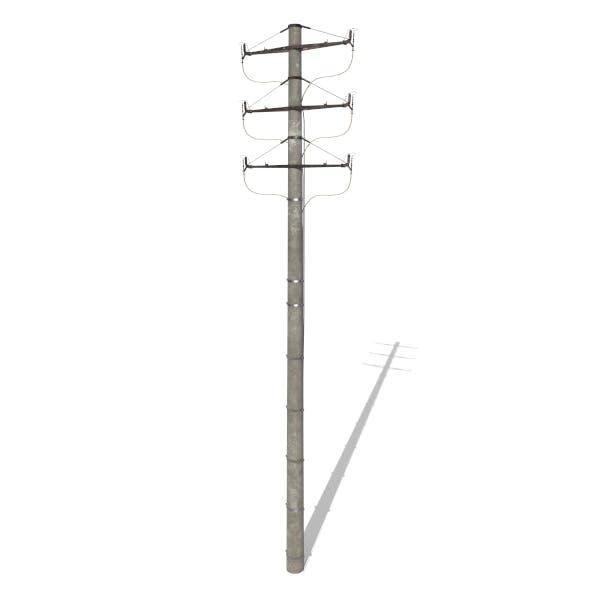 Electricity Pole 1 - 3DOcean Item for Sale