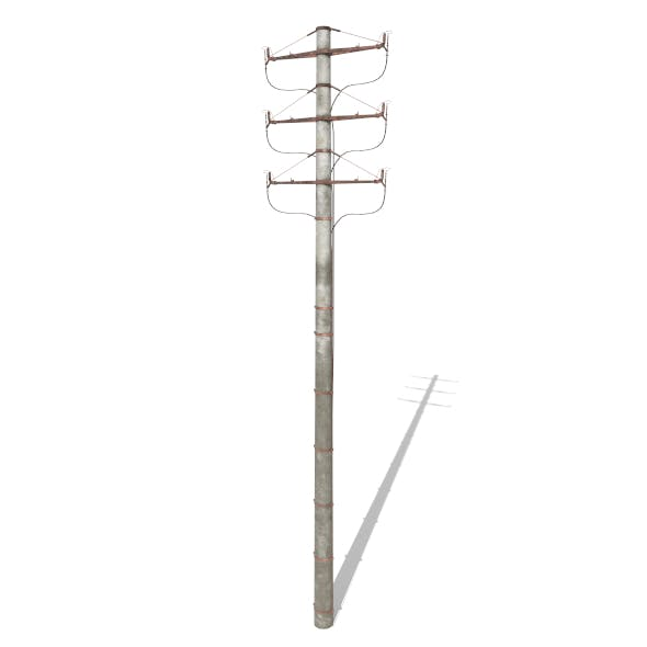 Electricity Pole 1 Weathered - 3DOcean Item for Sale