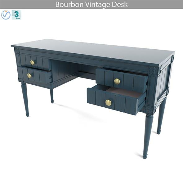 MADE Bourbon Vintage Desk - 3DOcean Item for Sale