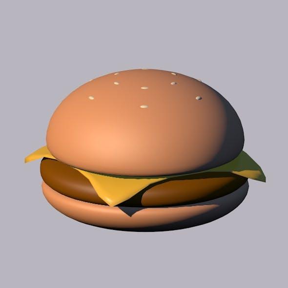 CheeseBurguer (Cartoony) - 3DOcean Item for Sale