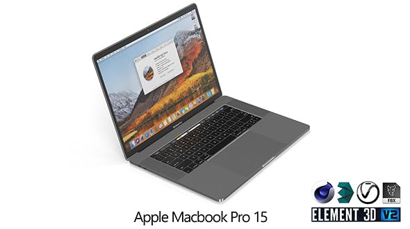 Apple Macbook Pro 15 Touch bar - 3DOcean Item for Sale