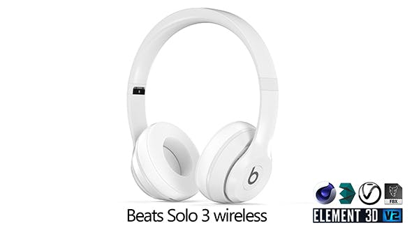 Beats Solo 3 White - 3DOcean Item for Sale